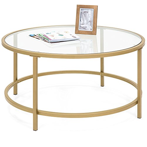 Greenwich Round Coffee Table Choice Of Size: Best Choice Products 36in Round Tempered Glass Coffee