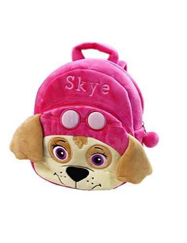 - YOURNELO Kid's Plush 3D Paw Patrol Preschool Baby Toddler Knapsack Schoolbag Bag (Skye)