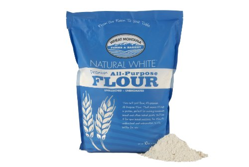 Wheat Montana Natural White Flour, 10 Pound (Pack of 4)