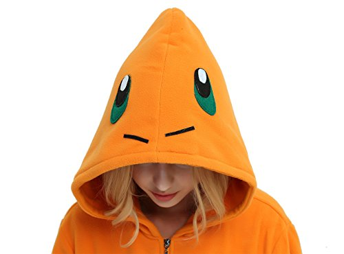 Es Unico Pokemon Charmander Hoodie Jacket for Women, Men and Teenagers(Small) by Es Unico (Image #3)