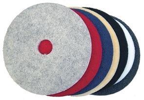 """Edmer 17"""" Floor Pads - Black Super Strip (5 pads/case)"""