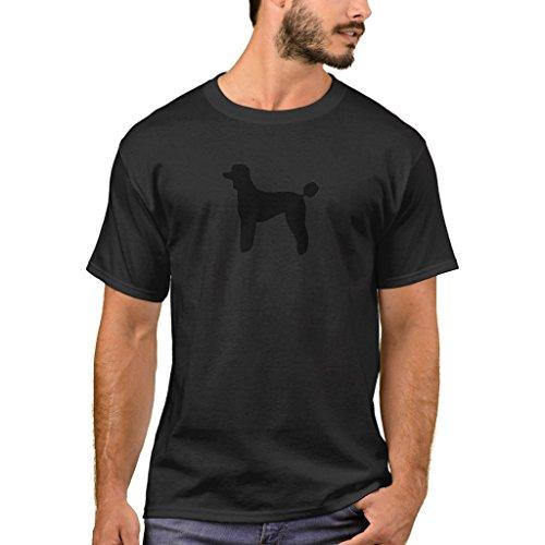 Zazzle Men's Basic T-Shirt, Poodle (Standard, Lamb Cut) T-Shirt, Black (Cut Black Poodle T-shirt)