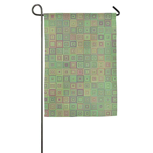 Texture Square Garden Flag Indoor & Outdoor Decorative Flags for Parade Sports Game Family Party Wall Banner 12x18 inches -