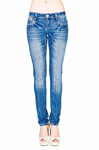 Skinny Embellished Jeans - VIRGIN ONLY Women's Embellished Skinny Jeans (Light Denim, 9)