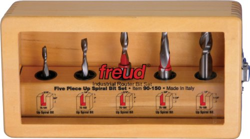 Freud 5 Piece Up Spiral Bit Set (90-150)