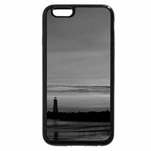 iPhone 6S Case, iPhone 6 Case (Black & White) - SUN ON THE CLOUDS