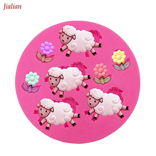 (Laliva Angel Wings Food grade fondant cake silicone mold Sheep flowers Shape polymer clay chocolate pastry making decoration tools 0125)