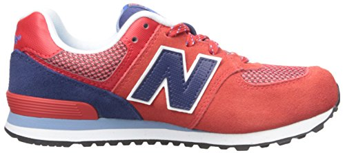 New Balance KL574 Summit Grade Running Shoe (Big Kid) Red/Blue