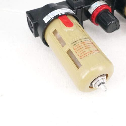Fevas BC2000 1//4 Air Source Treatment Unit Pneumatic Lubricator+Filter+Regulator Three Units