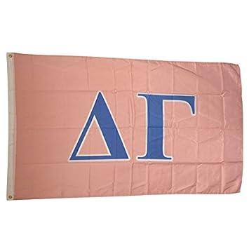 delta gamma light pinklight blue sorority letter flag