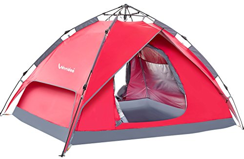 Wnnideo Camping Tent 2-3 Person Easy Instant Pop Up Tent