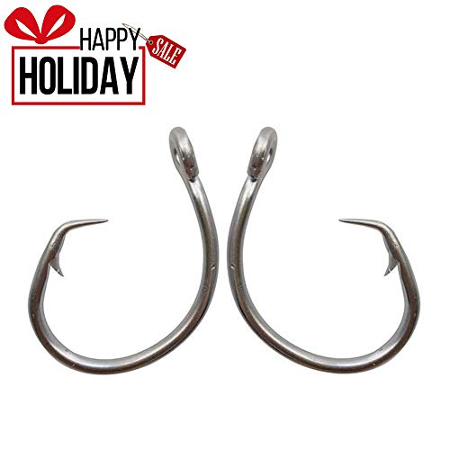 - AGOOL Tuna Circle Fishing Hook 39960 Stainless Steel Saltwater Fish Hook 20pcs per Pack (15/0,20 Pcs)