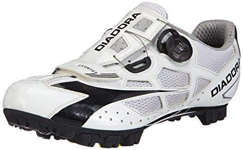 Diadora X- Vortex - Zapatillas de ciclismo de carretera Unisex adulto Weiß (Weiß/Schwarz 3510)