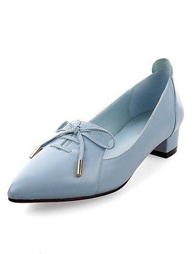Bajo eu39 uk6 uk6 cn39 GGX blue Azul Mujer Casual Negro Oficina Tacones Confort y blue Cuero us8 eu39 Tacón Puntiagudos cn34 us5 us8 cn39 blue Trabajo eu35 uk3 faZq1xaw