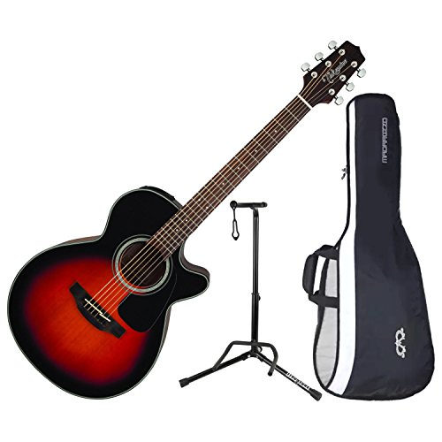 Takamine GF30CE-BSB Gloss Brown Sunburst Acoustic Electric Guitar FXC w/ Gig Bag and Stand