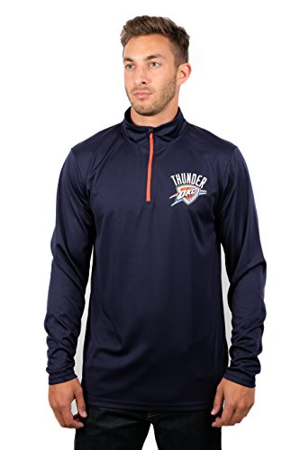 (Ultra Game Adult Men Quarter Zip Pullover Shirt Athletic Quick Dry Tee, Team Color, Large )