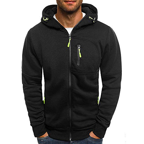 SXZG Autumn and Winter New Men Jacquard Sweater Men Sports and Fitness Cardigan Hooded Jacket