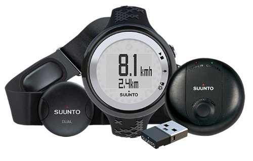 Suunto M5 GPS Pack, Black Band, Silver Face SS016822000