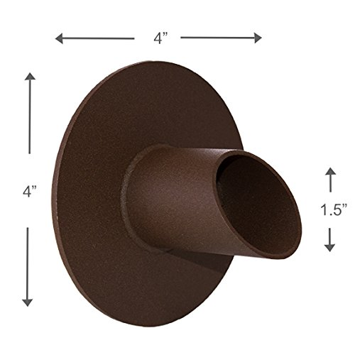 Waverly 1.5'' Round Water Fountain Spout Scupper Spillway Emitter for Pool, Pond, Water Feature, Etc - Brown Textured Rust