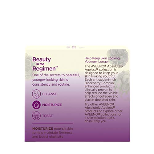 41vWuygB0rL - Aveeno Absolutely Ageless Restorative Night Cream Facial Moisturizer with Antioxidant-Rich Blackberry Complex, Vitamin C & E, Hypoallergenic, Non-Greasy & Non-Comedogenic, 1.7 fl. oz