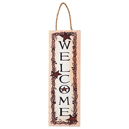 Juvale Welcome Sign - Hanging Decorations, Decorative Signs for Home and Office, Housewarming Gift, Front Door Decorations, 11.8 x 3.9 x 0.2 Inches (Friends Welcome Door)