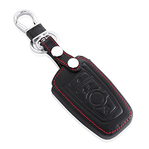VCiiC Leather Car Remote Key Case Cover Fit for BMW 3 5 7 Series M1 M2 M3 F05 F10 F20 F30 335 328 535 650 740 x1 x3 x4 x6, etc Bmw 328 Series Shocks
