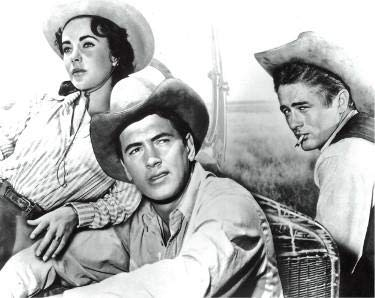 Rock Hudson, James Dean and Elizabeth Taylor unsigned Vintage B&W 8x10 Photo from the 1956 Film