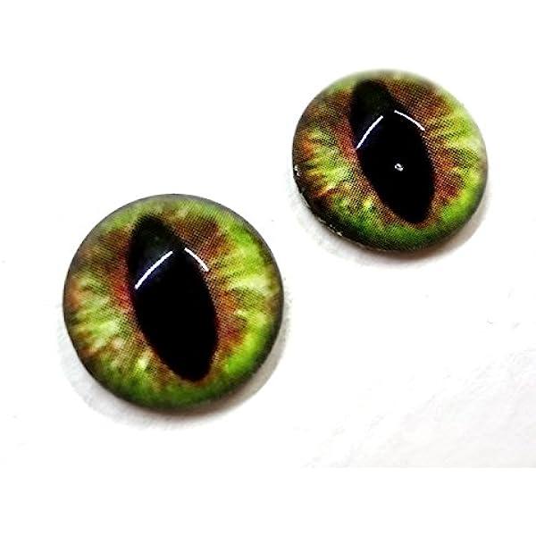 16mm Pale Green Cat Realistic Animal Eye Jewelry Taxidermy Art Glass Doll Eyes