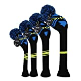 Scott Edward Knit Golf Head Covers 4 Pieces Pack