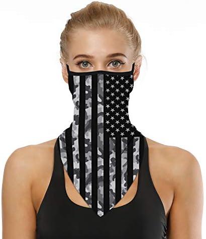 BINACL Face Mask Cover Bandana Neck Gaiter Ear Loops Scarf Balaclava Men Women Dust UV Protection Headwear