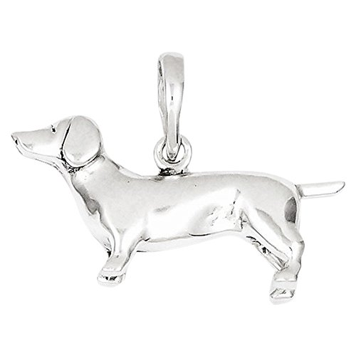 Sterling Silver Dachshund Pendant, Best Quality Free Gift Box