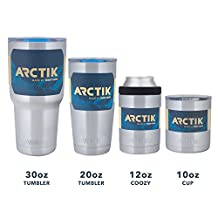 Stainless Steel Coffee Tumbler - 20 Oz Double Wall Vacuum Insulated Hot or Cold Tumbler with Splash Proof Lid from the Arctik Series by Driftsun