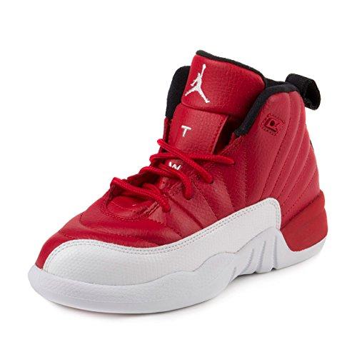Nike Baby Boys Jordan 12 Retro BP Gym Red/White-Black Suede Size 2Y by NIKE