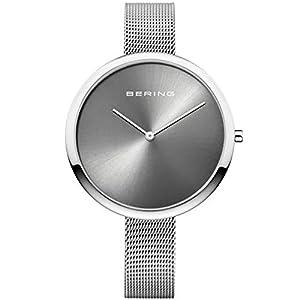 BERING Reloj Analógico para Mujer de Cuarzo con Correa en Acero Inoxidable 12240-009