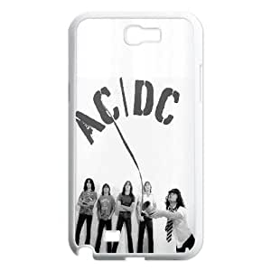 Qxhu ACDC patterns Hard Plastic Cover Case for Samsung Galaxy Note2 N7100