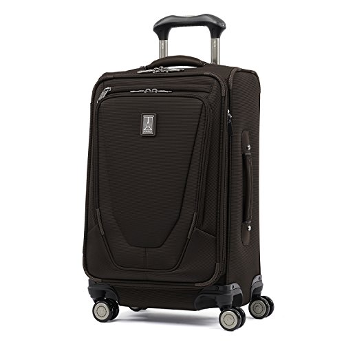 Travelpro Luggage Crew 11 21' Carry-on Expandable Spinner w/Suiter and USB Port, Mahogany Brown