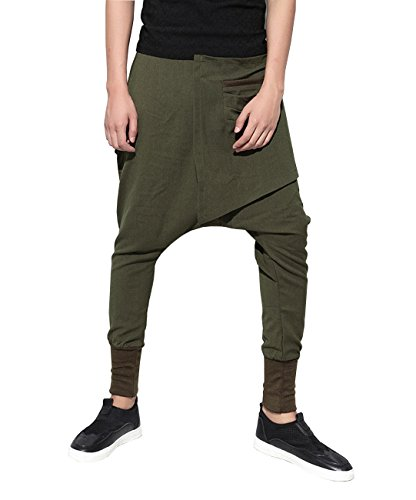 Insertos Sólidos Hombres Bolsos Ellazhu Green Calle Lápiz Harem Pantalones Gym109 OqR7gPE