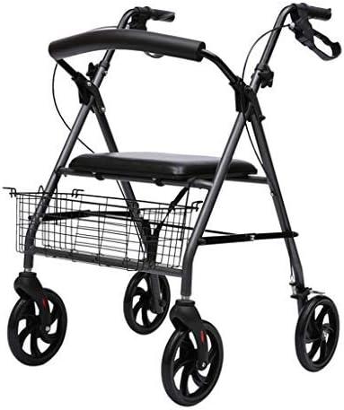 WLWWY Andador De Aluminio Ligero, Andador Móvil Y Asiento De Descanso para Pacientes De Edad Avanzada, Estabilizador para Caminar para Personas Post Operadas Lesionadas Carrito De Compras