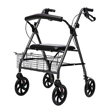 WLWWY Andador De Aluminio Ligero, Andador Móvil Y Asiento De ...