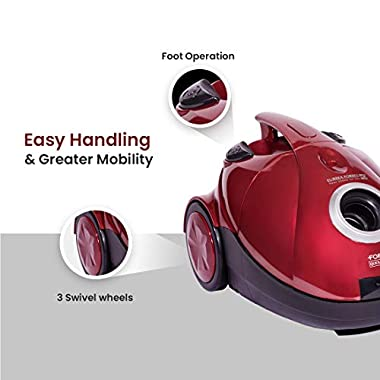 Eureka Forbes Quick Clean DX 1200-Watt Vacuum Cleaner for Home with Free Reusable dust Bag (Red) 12