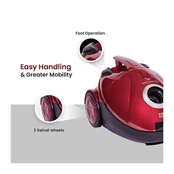Eureka Forbes Quick Clean DX 1200-Watt Vacuum Cleaner for Home with Free Reusable dust Bag (Red) 5