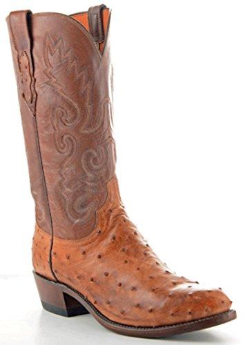 Ostrich Cowboy Boots - 8