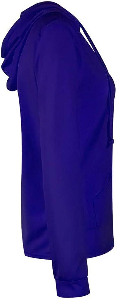 Centory Womens Long Sleeve Hoodie Zip Up Top Basic Casual Hooded Sweatshirt Outwear