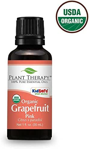 Plant Therapy Grapefruit Pink Organic Essential Oil 30 mL (1 oz) 100% Pure, Undiluted, Therapeutic Grade