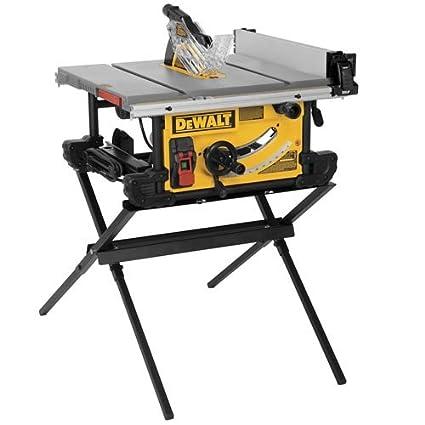 dewalt dwe7490x 10 inch job site table saw with scissor stand rh amazon com DW744X 10 Jobsite Table Saw dw744 table saw manual