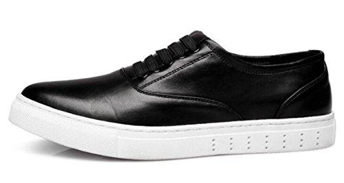 De Verano Y Transpirables Casuales Cuero De De Hombres Black Versión Zapatos De Primavera Moda Planos De Los Los Zapatos Zapatos Coreana 4Iq0ff