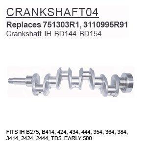 Tractor Crankshaft (CRANKSHAFT04 Case Tractor Parts Crankshaft IH BD144 BD154 IH B275, B414, 424, 43)