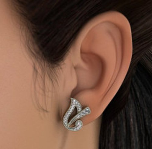 14K Or jaune 0,3CT TW White-diamond (IJ | SI) Boucles d'oreille à tige