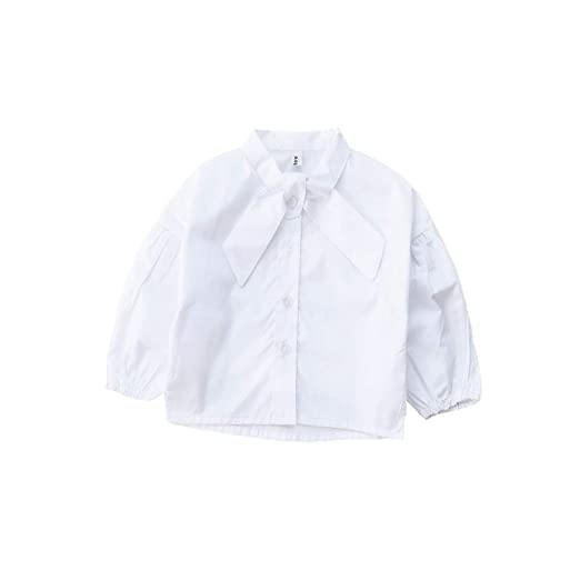 Amazon Com Allaibb Toddler Girl White Shirt Long Puff Sleeve Blouse