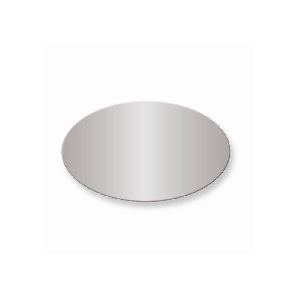1 1/8 x 1 7/8 Oval Polished Alum Plates-Sets of 6